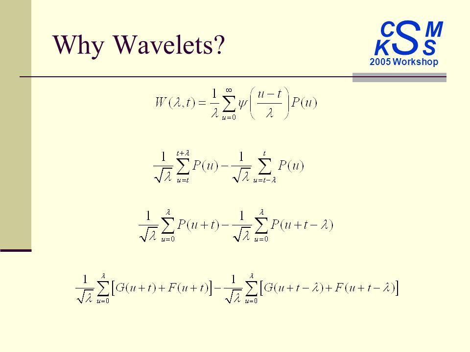C M S 2005 Workshop K S Why Wavelets