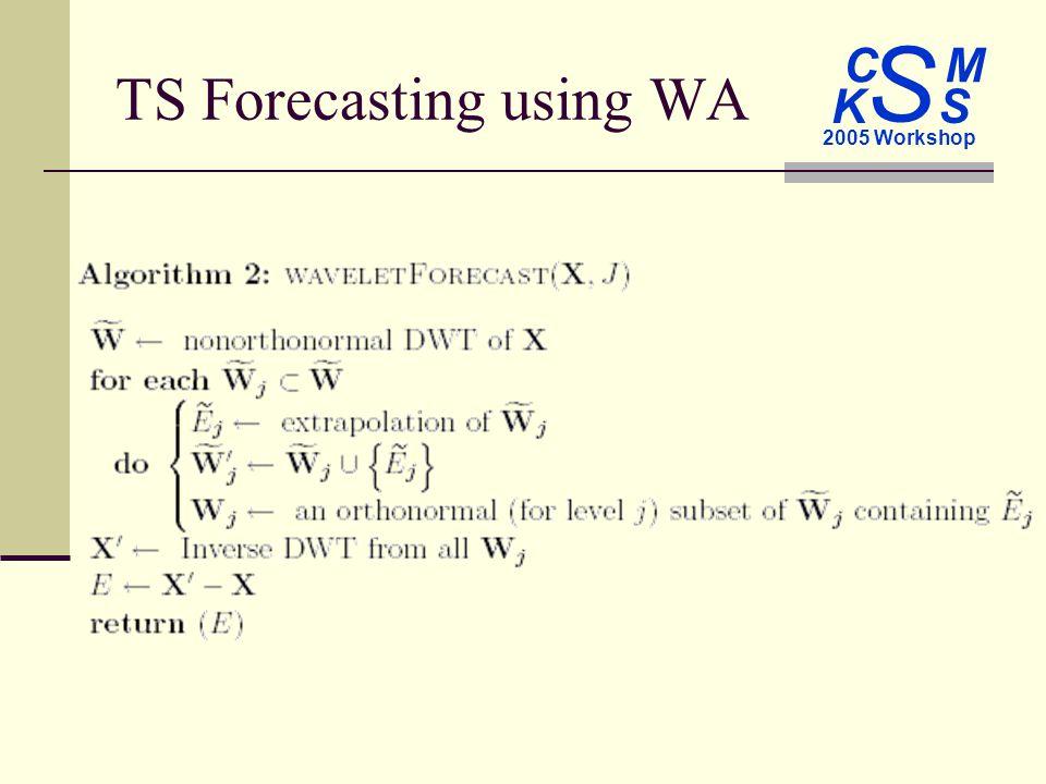 C M S 2005 Workshop K S TS Forecasting using WA