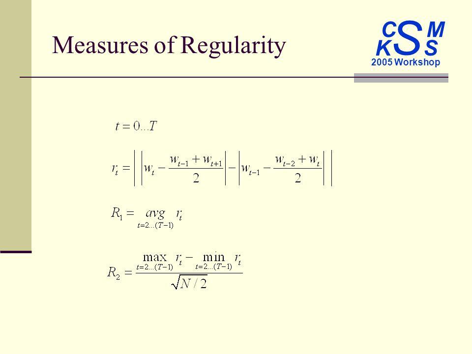 C M S 2005 Workshop K S Measures of Regularity
