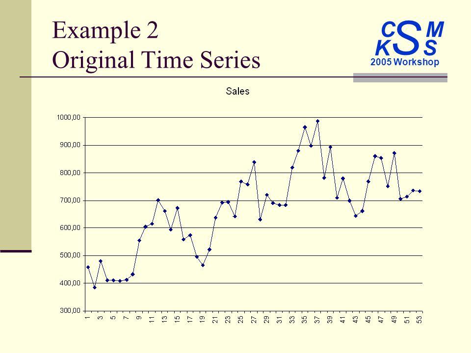 C M S 2005 Workshop K S Example 2 Original Time Series