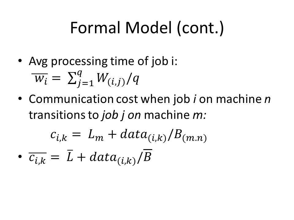Formal Model (cont.)