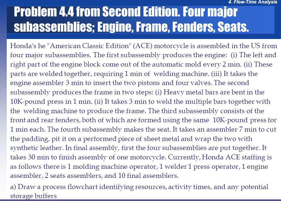 4. Flow-Time Analysis Honda's he