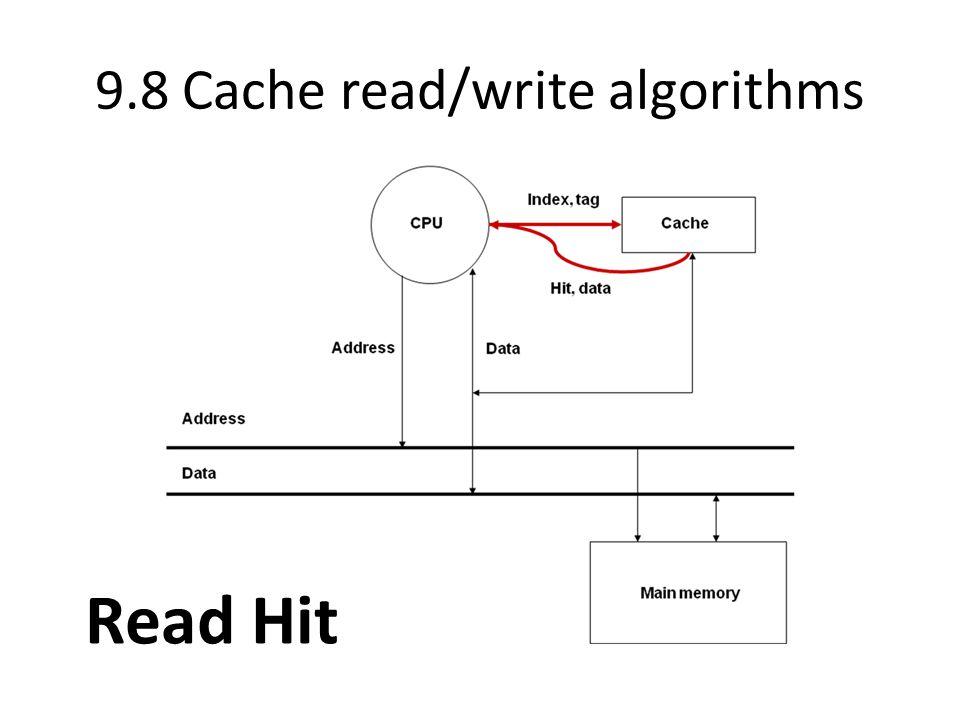 9.8 Cache read/write algorithms Read Hit