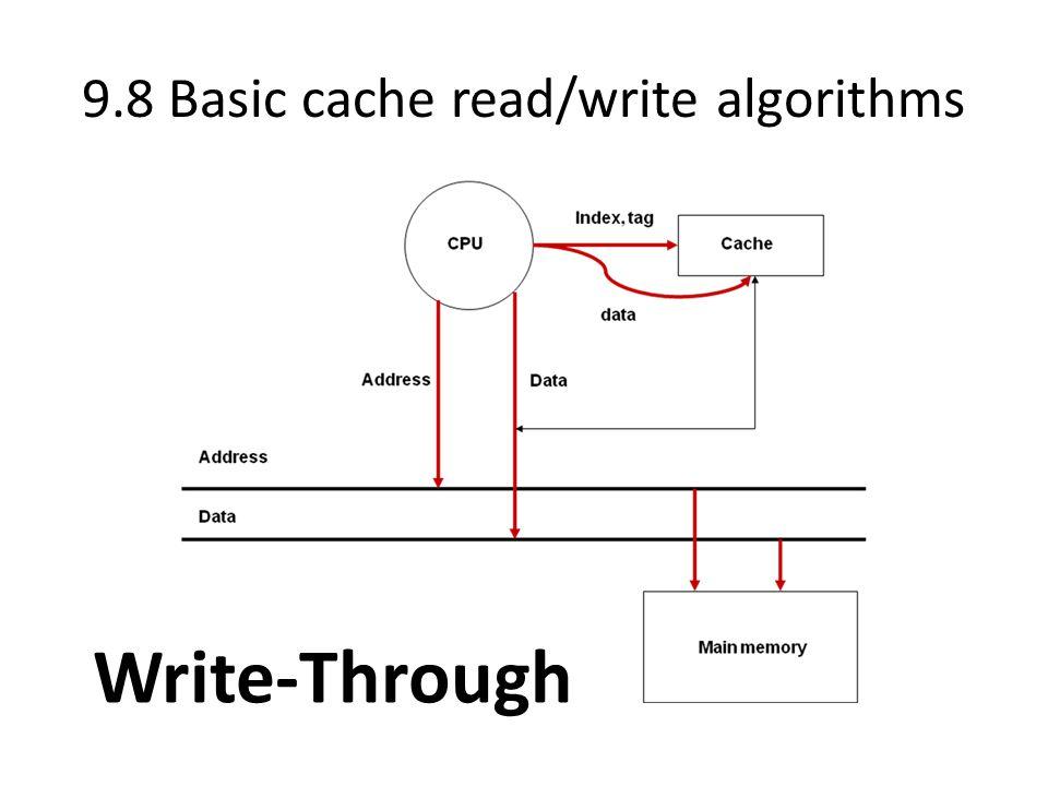 9.8 Basic cache read/write algorithms Write-Through