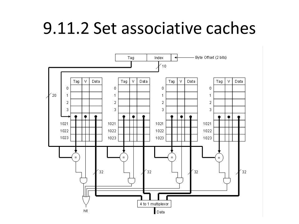 9.11.2 Set associative caches