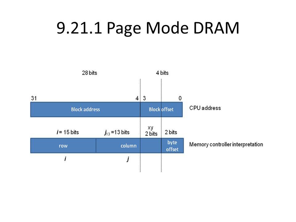 9.21.1 Page Mode DRAM