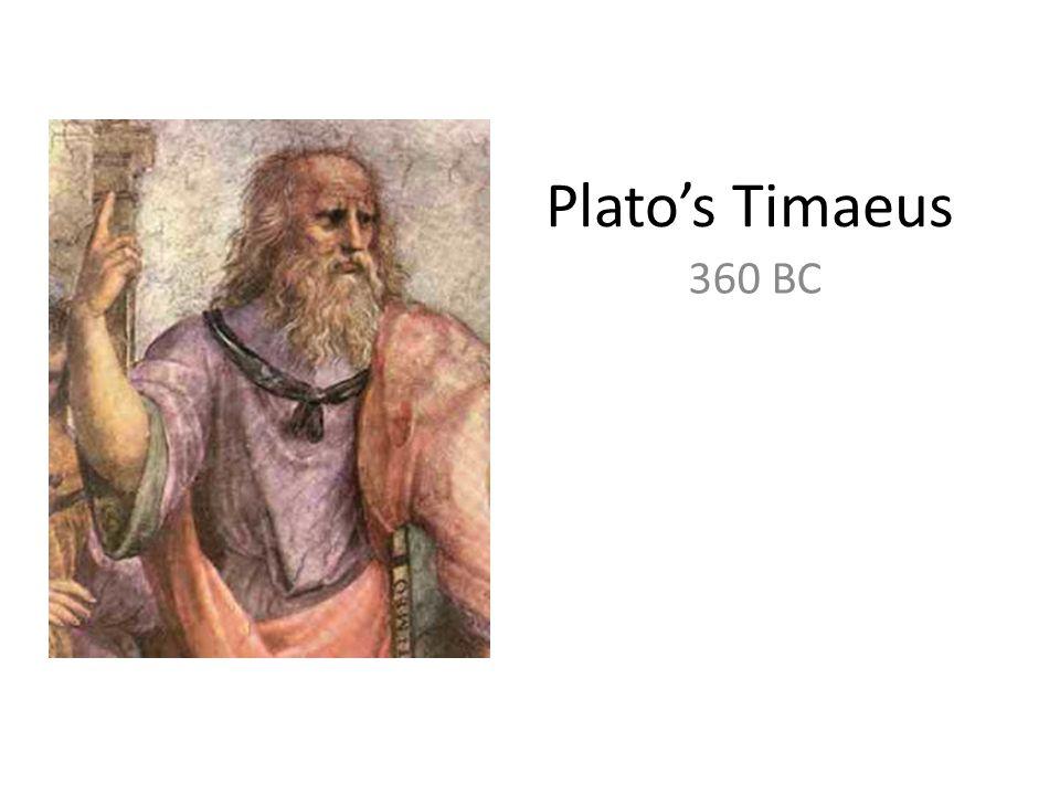 Platos Timaeus 360 BC