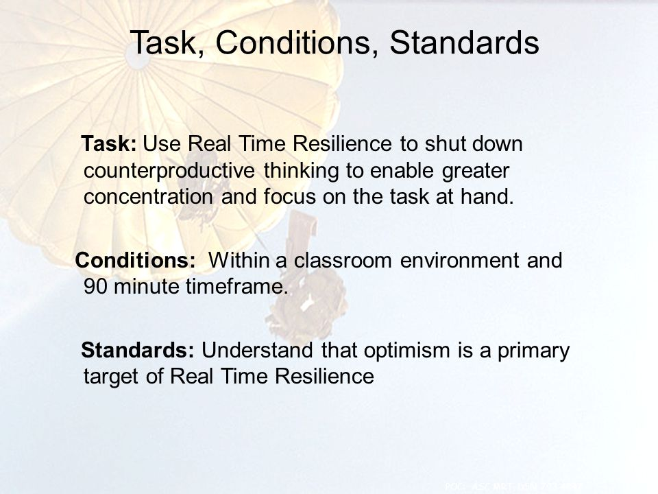 Task: Use Real Time Resilience to shut down counterproductive thinking to enable greater concentration and focus on the task at hand. Conditions: With