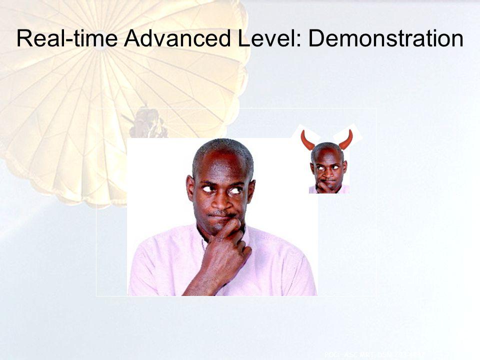 Real-time Advanced Level: Demonstration 9 POC: ASC MRT, DSN 793-4847