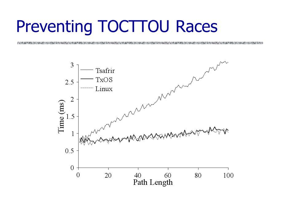 Preventing TOCTTOU Races