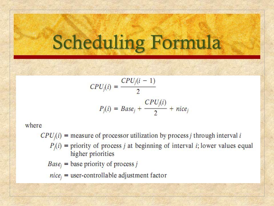 Scheduling Formula