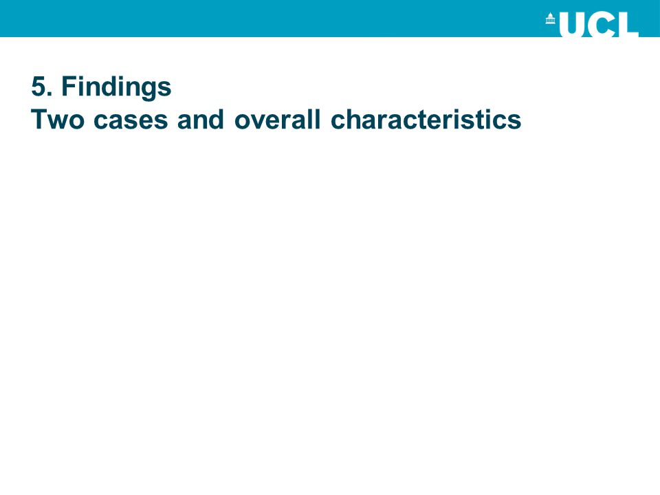 5. Findings Two cases and overall characteristics