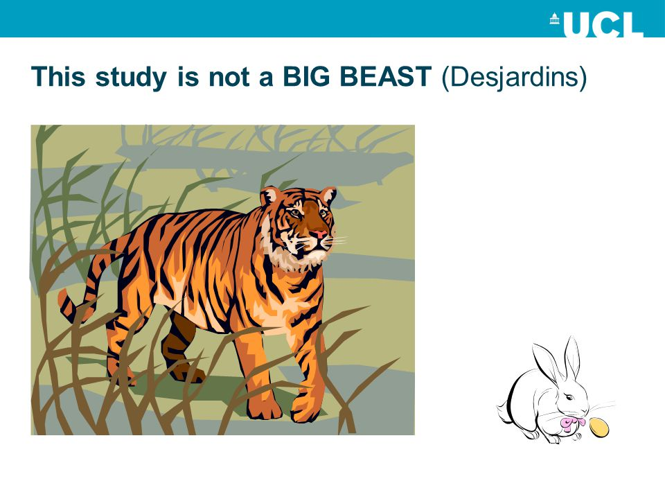 This study is not a BIG BEAST (Desjardins)