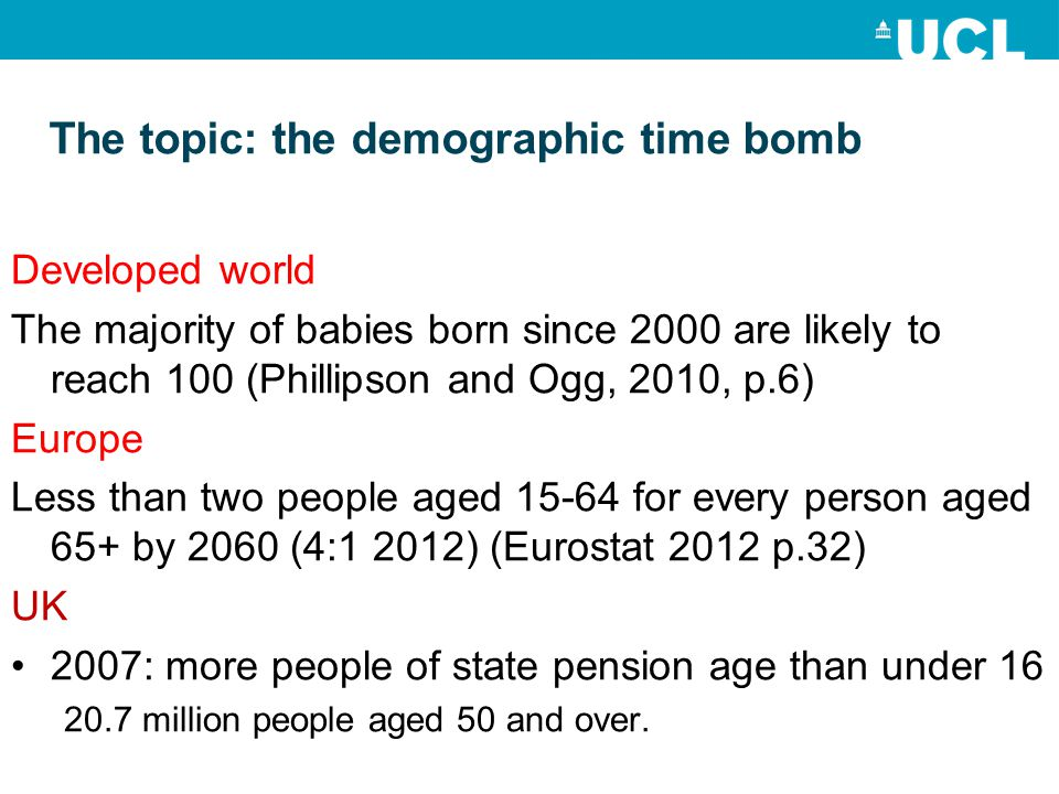 Result of demographic time bomb No fixed retirement age Longer employment is an economic necessity Formal lifelong learning