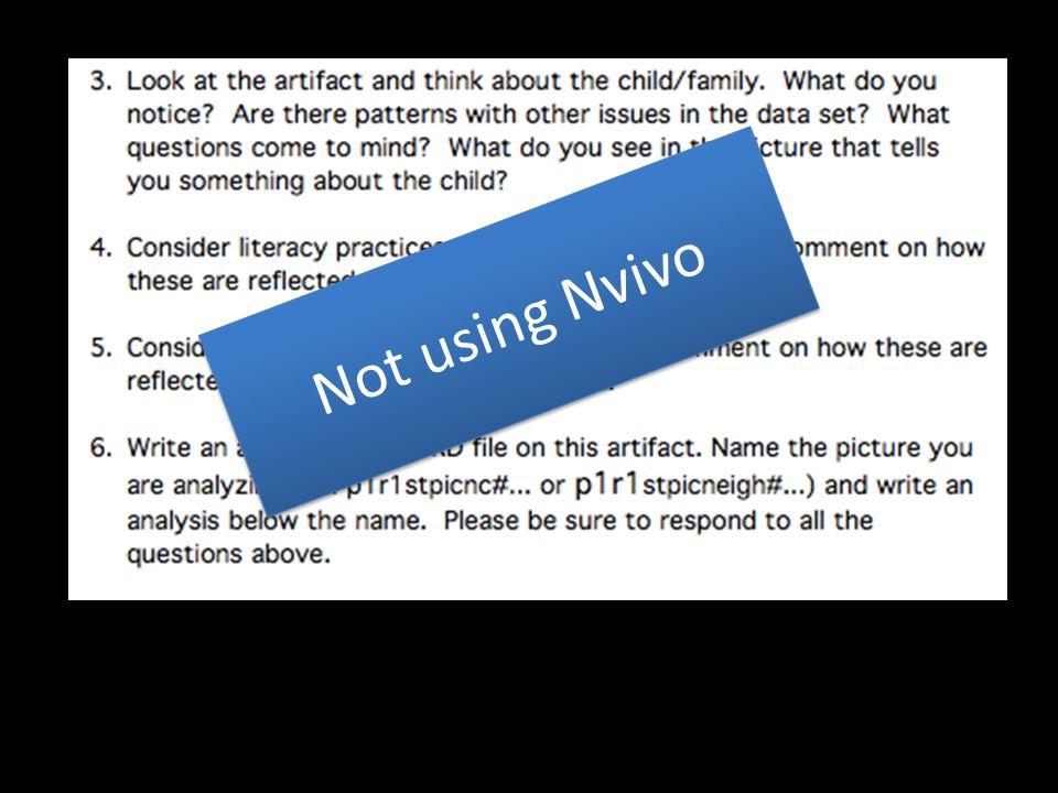 Not using Nvivo