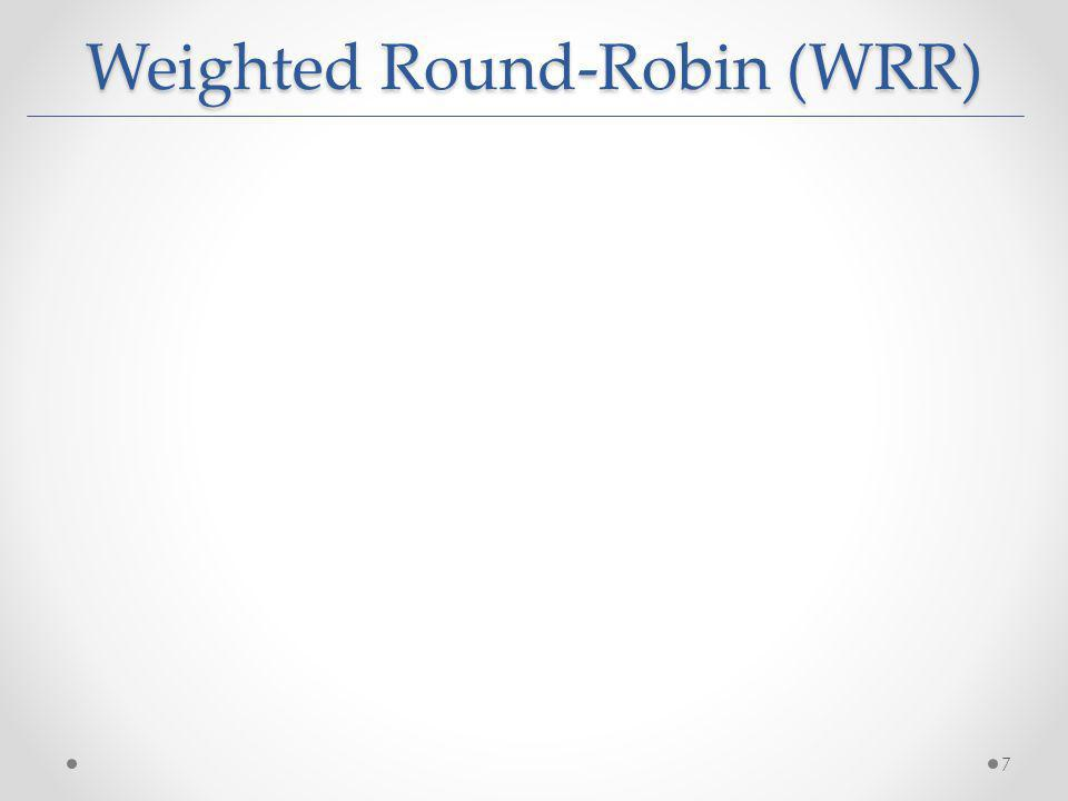 Weighted Round-Robin (WRR) 7