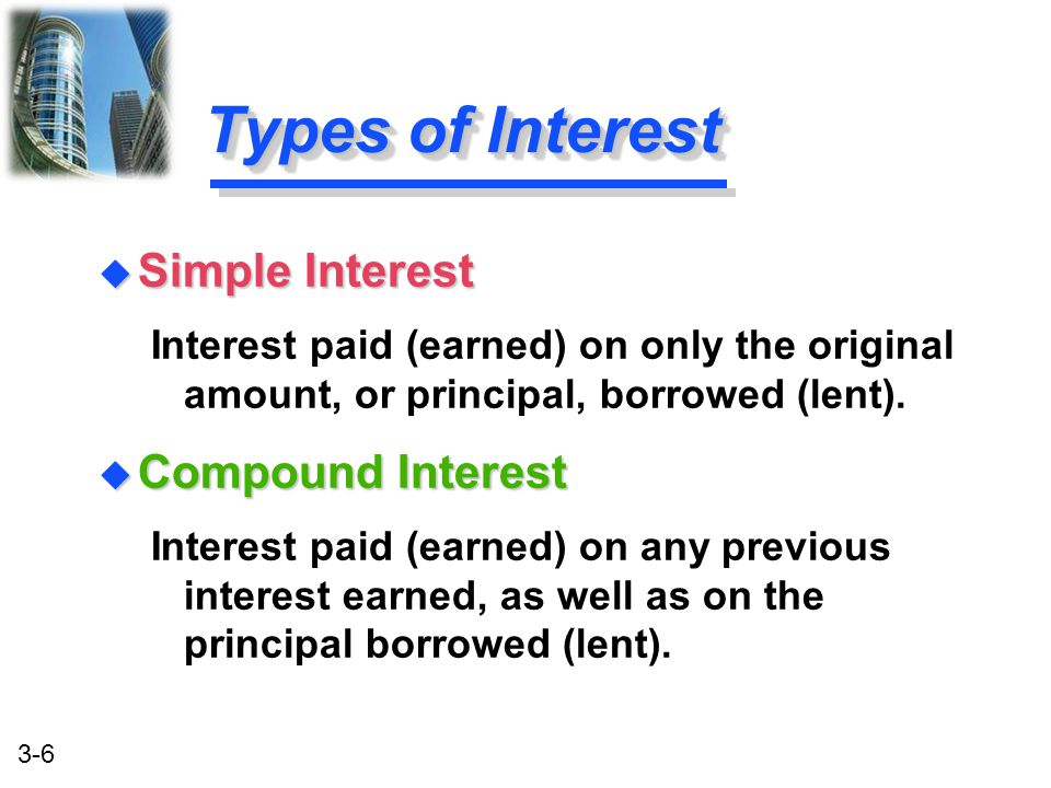 3-7 Simple Interest Formula Formula FormulaSI = P 0 (i)(n) SI:Simple Interest P 0 :Deposit today (t=0) i:Interest Rate per Period n:Number of Time Periods