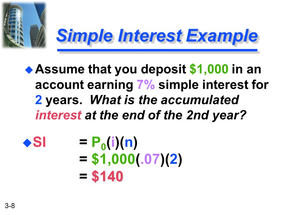 3-9 FV $1,140 FV = P 0 + SI = $1,000 + $140 = $1,140 u Future Value u Future Value is the value at some future time of a present amount of money, or a series of payments, evaluated at a given interest rate.