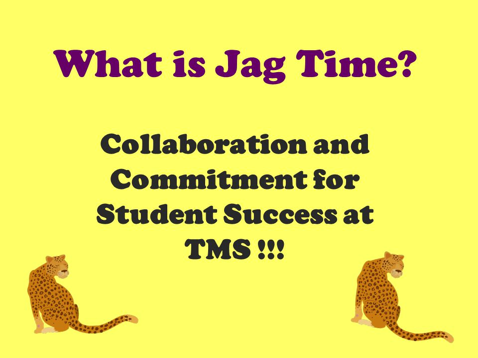 What is Jag Time Collaboration and Commitment for Student Success at TMS !!!