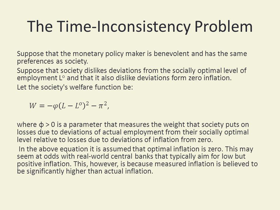 The Time-Inconsistency Problem