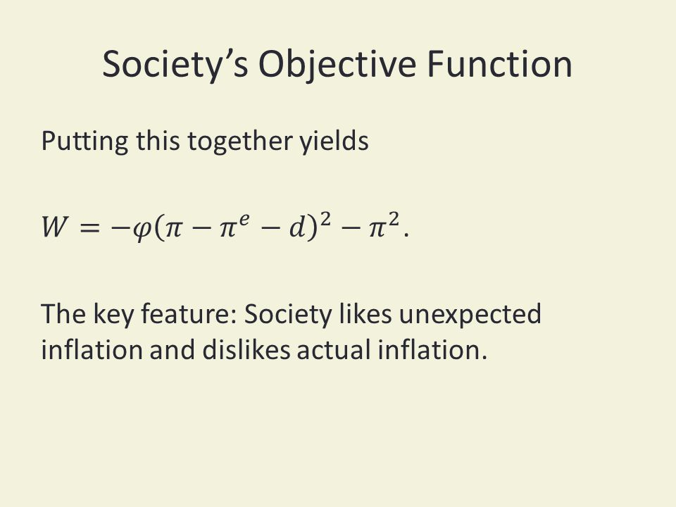 Societys Objective Function