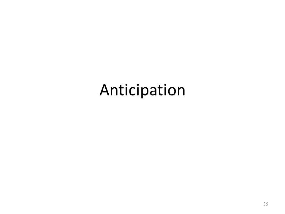 Anticipation 36