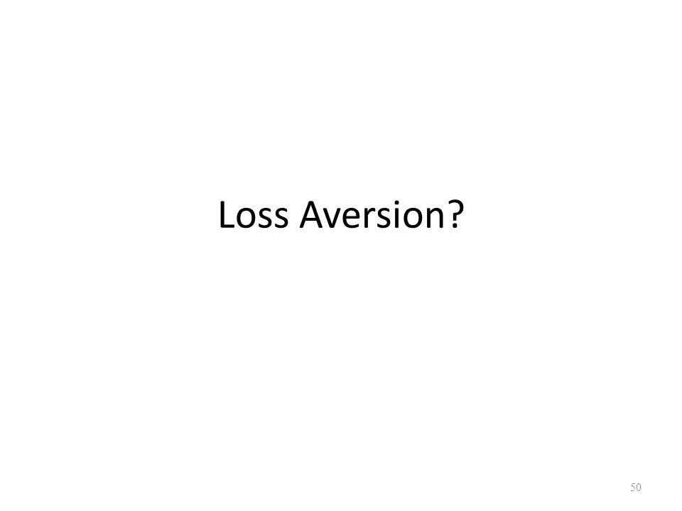 Loss Aversion? 50