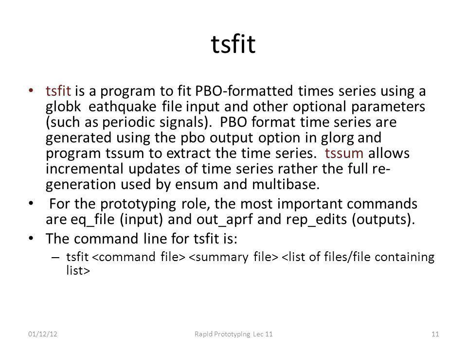 tsfit tsfit is a program to fit PBO-formatted times series using a globk eathquake file input and other optional parameters (such as periodic signals)