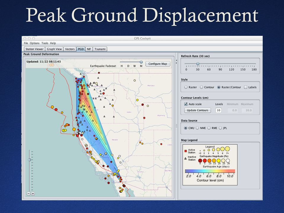 Peak Ground DisplacementPeak Ground Displacement