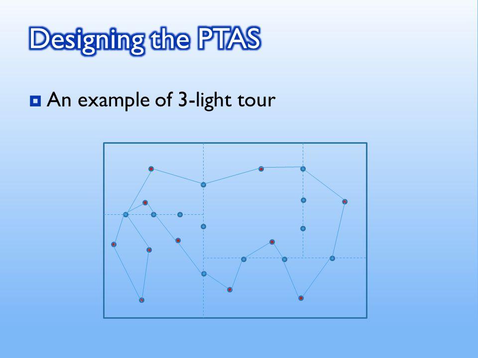 An example of 3-light tour