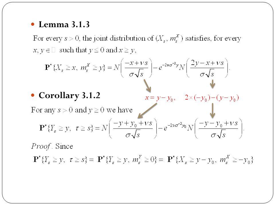 Lemma 3.1.3 Corollary 3.1.2