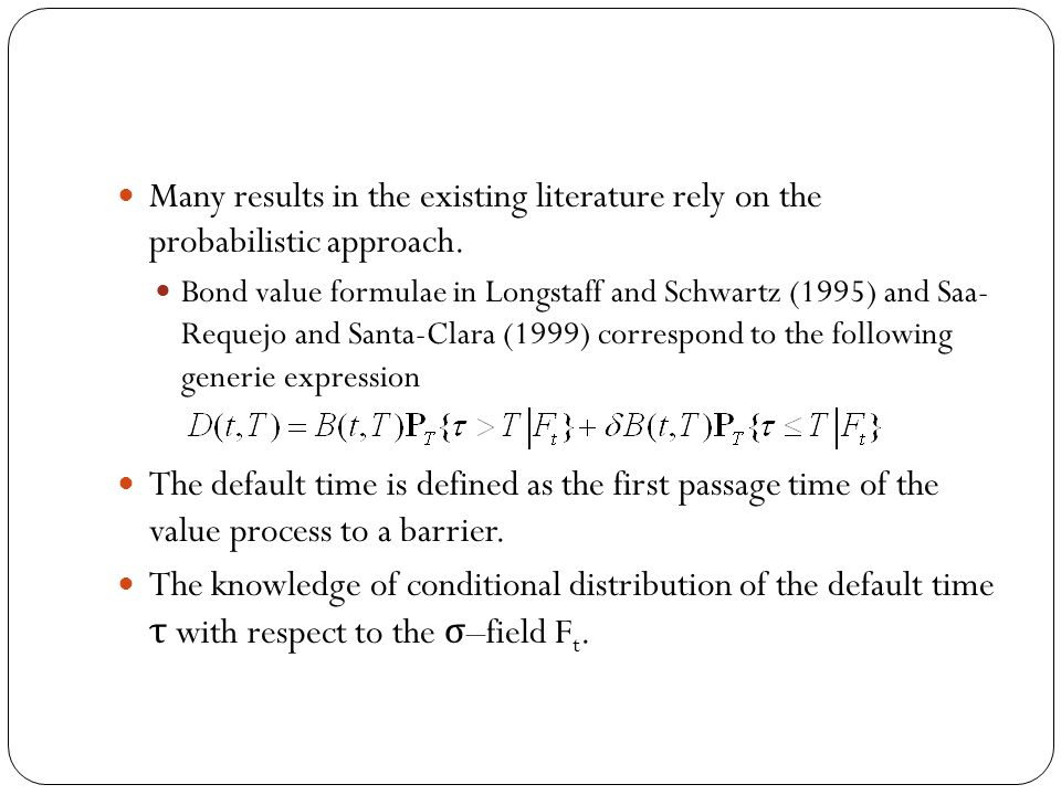 Many results in the existing literature rely on the probabilistic approach.