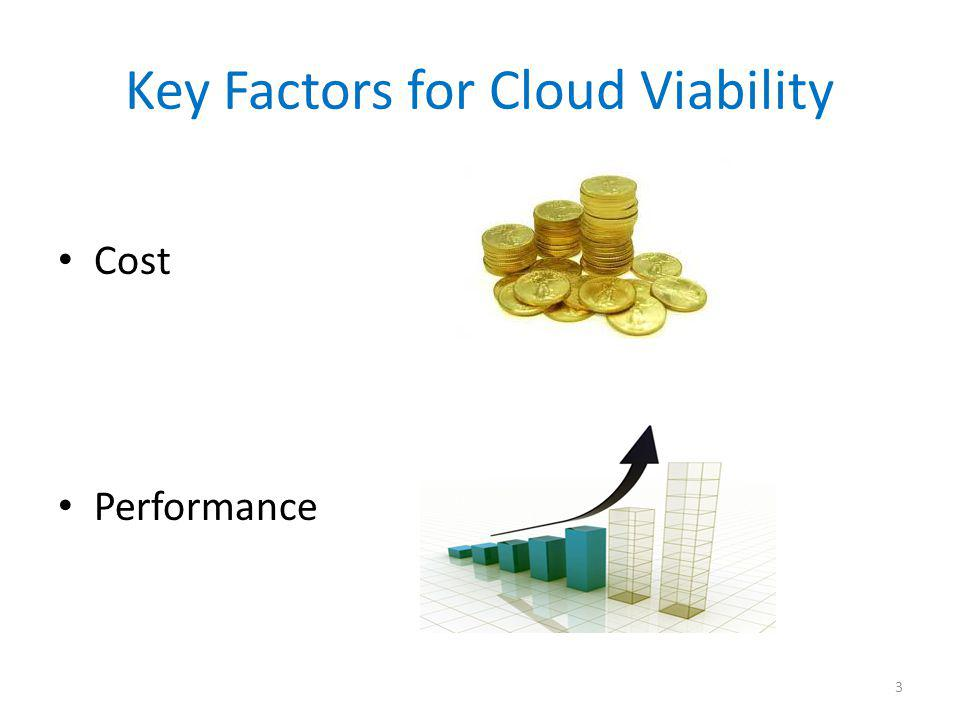 Key Factors for Cloud Viability Cost Performance 3