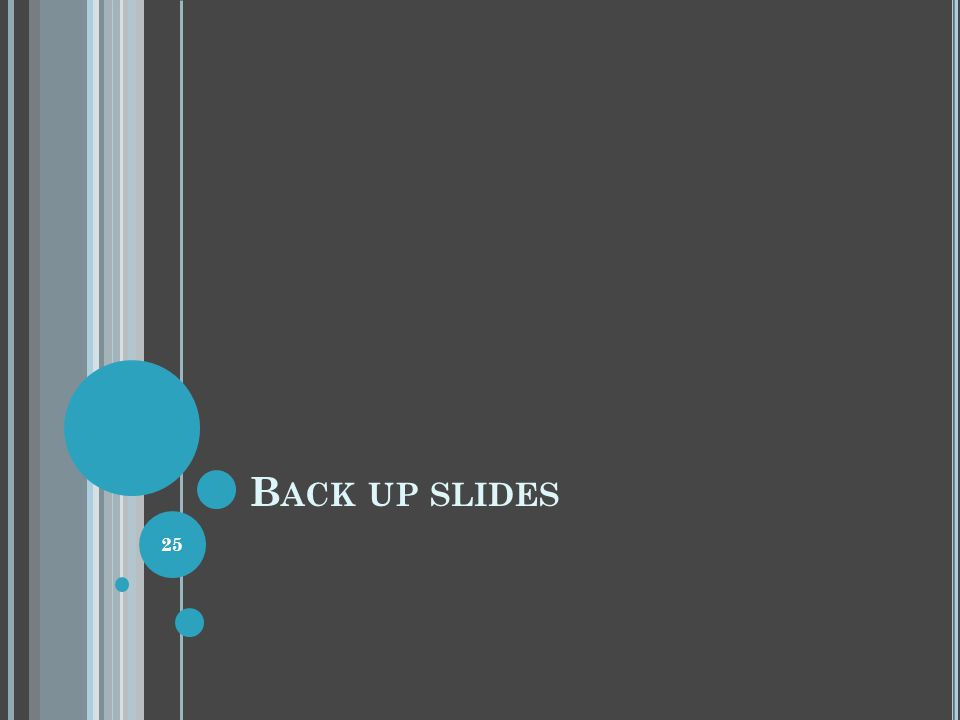 B ACK UP SLIDES 25