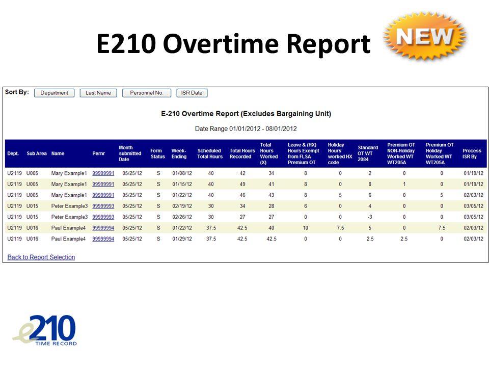 E210 Overtime Report