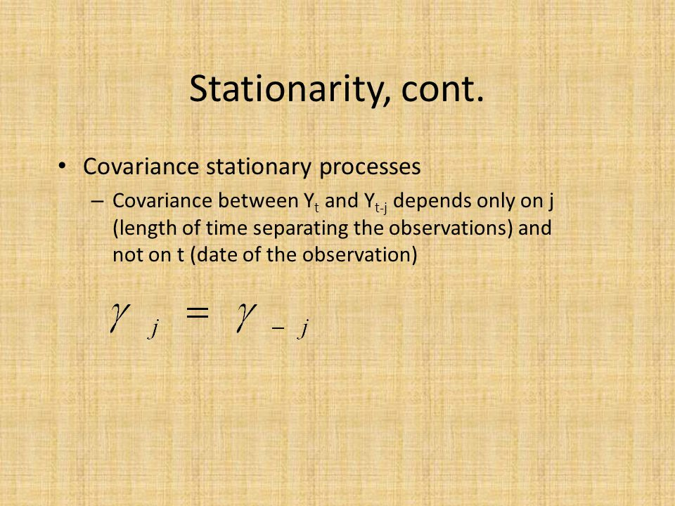 Stationarity, cont.