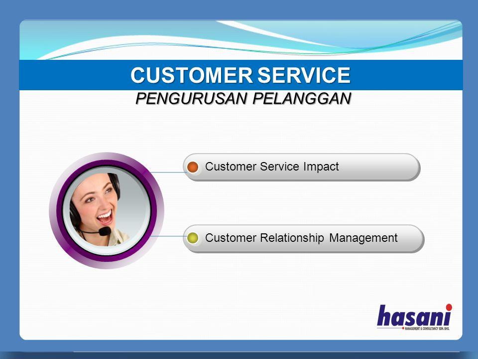CUSTOMER SERVICE PERFECT MANAGER PENGURUSAN PELANGGAN Customer Service Impact Customer Relationship Management