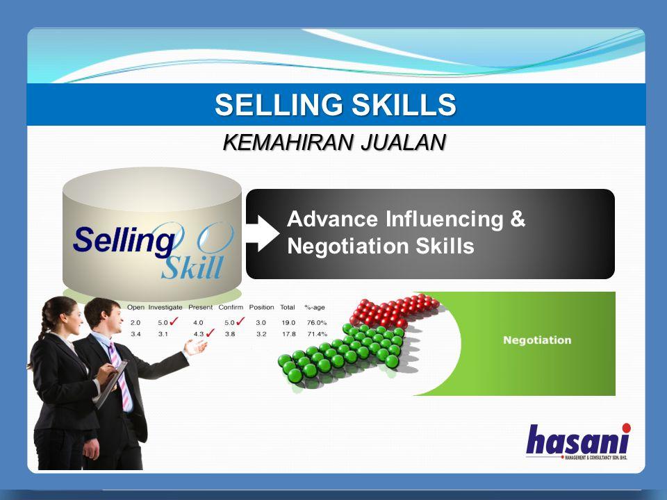PERFECT MANAGER Advance Influencing & Negotiation Skills SELLING SKILLS KEMAHIRAN JUALAN