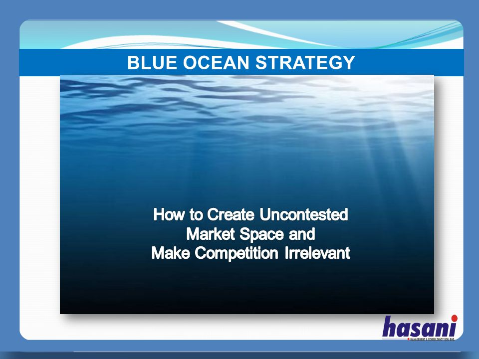 PERFECT MANAGER BLUE OCEAN STRATEGY