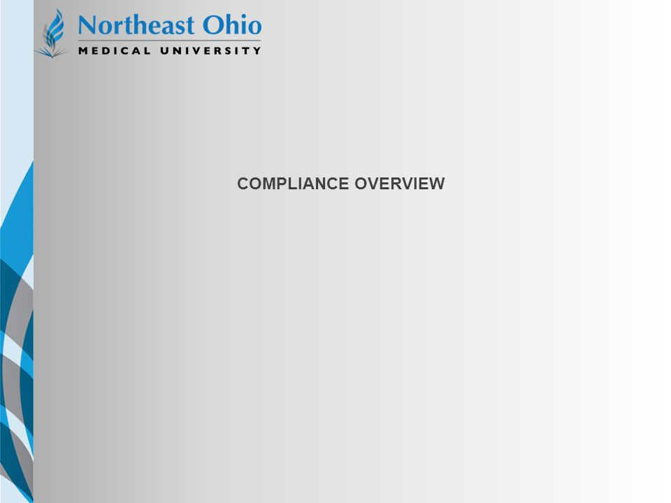 NEOMED TEMPLATE COMPLIANCE OVERVIEW
