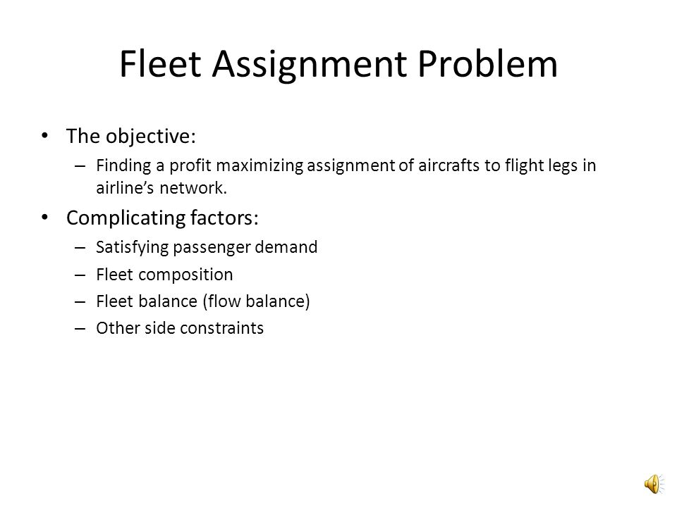 Breaking Down the Problems In order to handle airlines operational problems, it has been broken down to several hierarchical problems: – The schedule