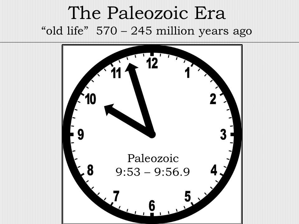 Paleozoic 9:53 – 9:56.9 The Paleozoic Era old life 570 – 245 million years ago