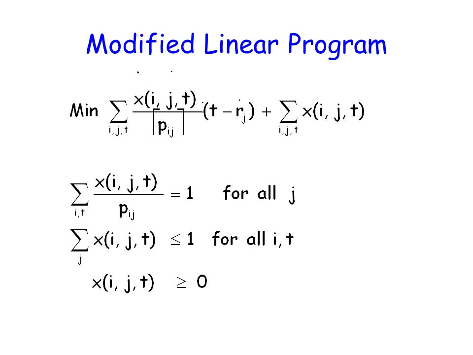 Modified Linear Program