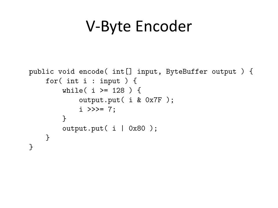 V-Byte Encoder