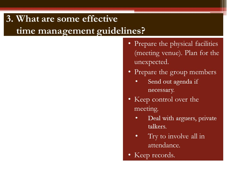 4.What are some effective meeting management tools.