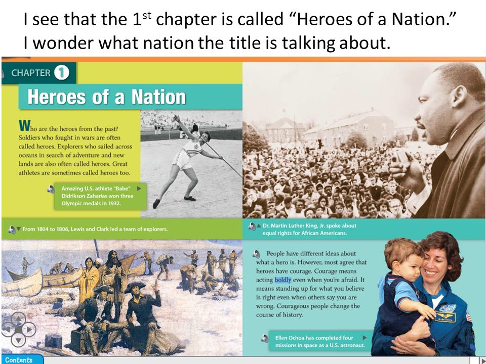 I see that the 1 st chapter is called Heroes of a Nation. I wonder what nation the title is talking about.