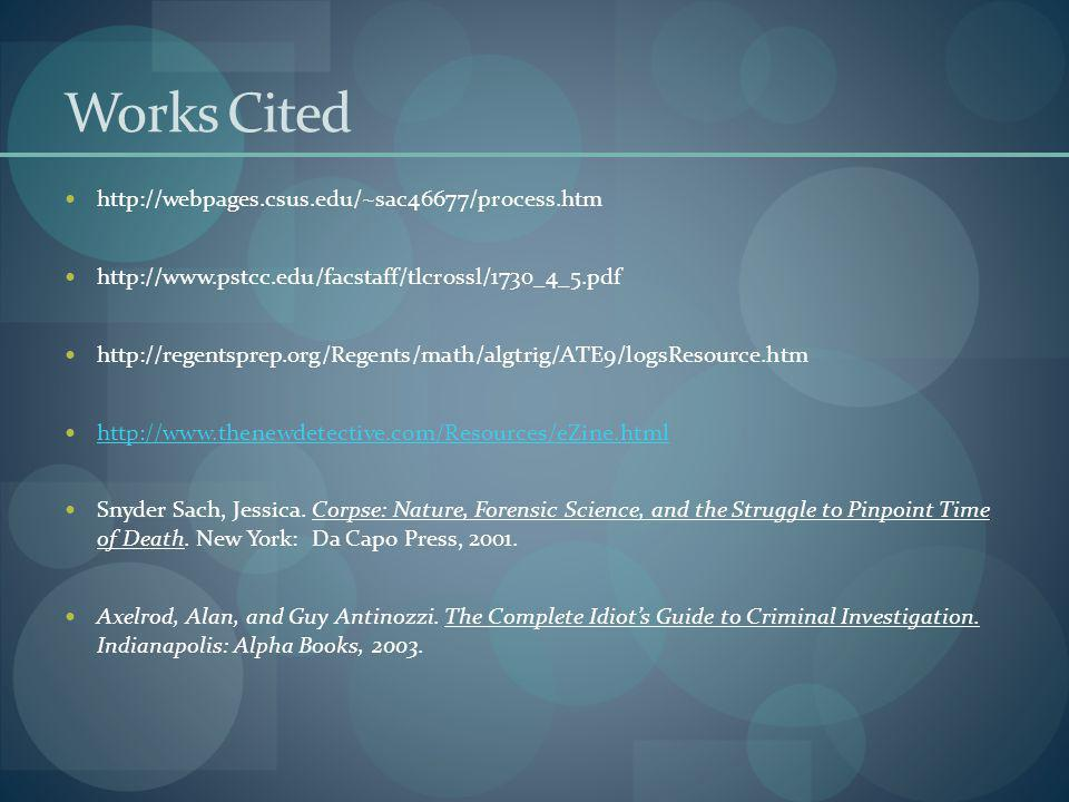 Works Cited http://webpages.csus.edu/~sac46677/process.htm http://www.pstcc.edu/facstaff/tlcrossl/1730_4_5.pdf http://regentsprep.org/Regents/math/alg