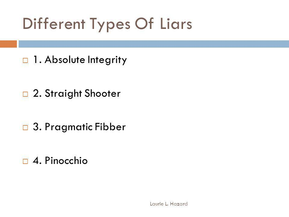 Different Types Of Liars Laurie L.Hazard 1. Absolute Integrity 2.