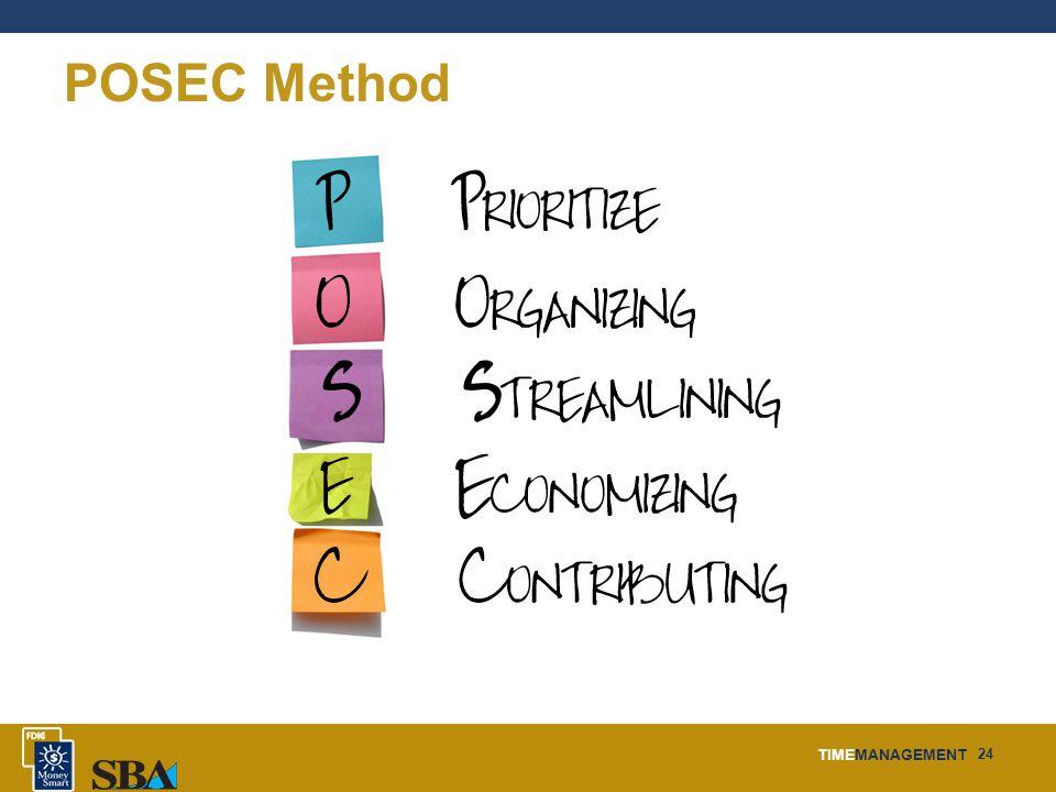 TIMEMANAGEMENT 24 POSEC Method