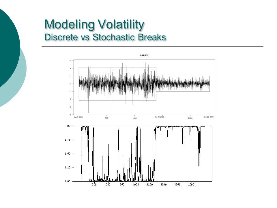 Modeling Volatility Discrete vs Stochastic Breaks